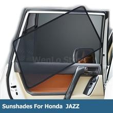 цена на 4 Pcs Magnetic Car Side Window Sunshade Laser Shade Sun Block UV Visor Solar Protection Mesh Cover For Honda JAZZ 2014-2018
