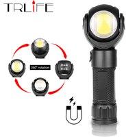 Светодиодный фонарик 360 градусов T6 + фонарь COB 8000LM Водонепроницаемый магнит мини освещение светодиодный фонарь для наружного использования ...