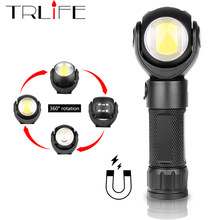 Led Flashlight 360 Degree T6+COB lantern 8000LM Waterproof Magnet Mini Lighting LED Torch Outdoor use 18650 or 26650 battery(China)