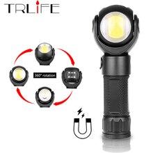 Led פנס 360 תואר T6 + COB פנס 8000LM עמיד למים מגנט מיני תאורת LED לפיד חיצוני להשתמש 18650 או 26650 סוללה