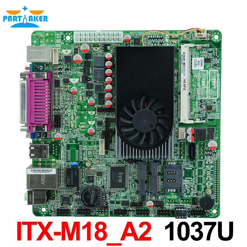 Celeron 1037u dual core 22nm processor Industrial embedded MINI  ITX motherboard ITX_M18_A2 with 1*VGA/8*USB/2*COM cheap mini itx motherboard qm77 with onboard intel core celeron 1037u processors support wifi 3g 2 lan