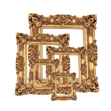 European large photo frame square oil painting wedding props classical KTV carved studio background decoration