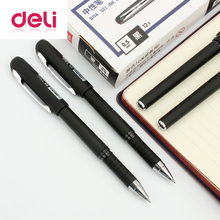 Deli gel pen 1pcs sign Plastic pen 0.5mm office black ink refills wholesale gel pen roller ball pen rubber S114 Stationery new 12v 9t starter motor for nissan tb42 tb45 tb48 s114 870 s114 258 s114 471 23300 vb000