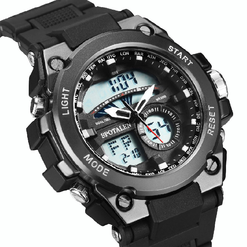 Luxury Brand Sports Watch Men Military Waterproof LED Digital Multifunction Male Watches Alarm S Shock Backlight Chronograph Nes(China)