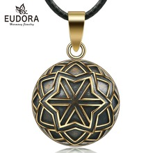 Eudora 20mm Copper Celtics Flower Mexican Harmony Bola Ball Pendant Necklace for Pregnancy Women Vintage fine Jewelry N14NB330