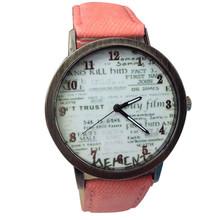 Cowboy Fabric Band Wrist Watch