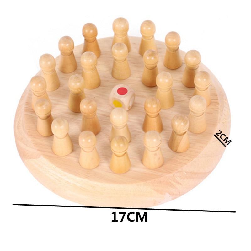Fëmijët ndeshje kujtese prej druri shkop shahu lojë argëtuese - Të mësuarit dhe arsimimi - Foto 6
