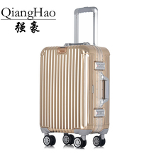 QiangHao 20″24″ 100% all aluminum cabin baggage TSA lock carry-on hardside rolling trolley case journey baggage suitcase wheels