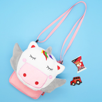 Soft Plush Unicorn Messenger Bag