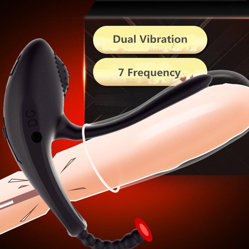 10 Speed Cock Ring Vibrator Couples Dual Vibration Penis Ring Vibrator for Clitoris Stimulator Cockring Sex Toys for Men10 Speed Cock Ring Vibrator Couples Dual Vibration Penis Ring Vibrator for Clitoris Stimulator Cockring Sex Toys for Men