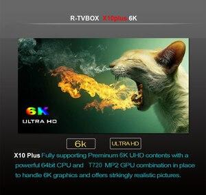 Image 4 - X10 Plus Android 9.0 Smart TV Box Allwinner H6 Quad Core 4GB RAM 64GB ROM USB3.0 WIFI H.265 HDR 6K résolution décodeur