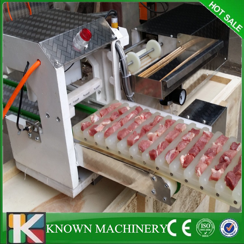 Factory price beef, mutton, chicken, chicken heart manual doner kebab meat skewer maker meat string machine