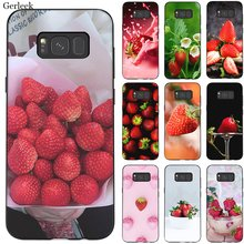 Desxz Cell Phone Case Silicone Fruit Strawberry For Samsung Galaxy S6 S7 Edge S8 S9 S10 S10E Plus Note 8 9 Cover(China)