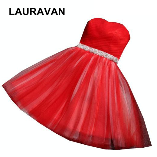 cheap formal blue champagne   bridesmaids     dresses   short strapless sweetheart red bridal maids   dress   style ball gown for teens