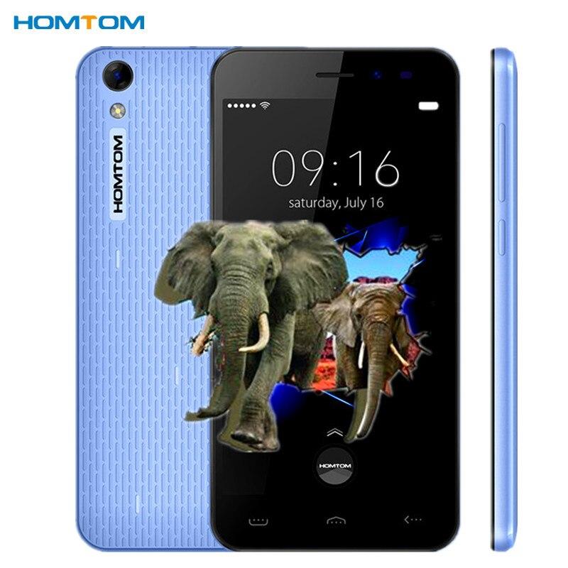 Цена за Оригинал Homtom HT16 pro смартфон 5.0 Дюймов 2 ГБ RAM 16 ГБ ROM Android 6.0 MTK6737 4 Г сотовый Телефон 1280x720 1.3 ГГц 3000 мАч 8.0MP