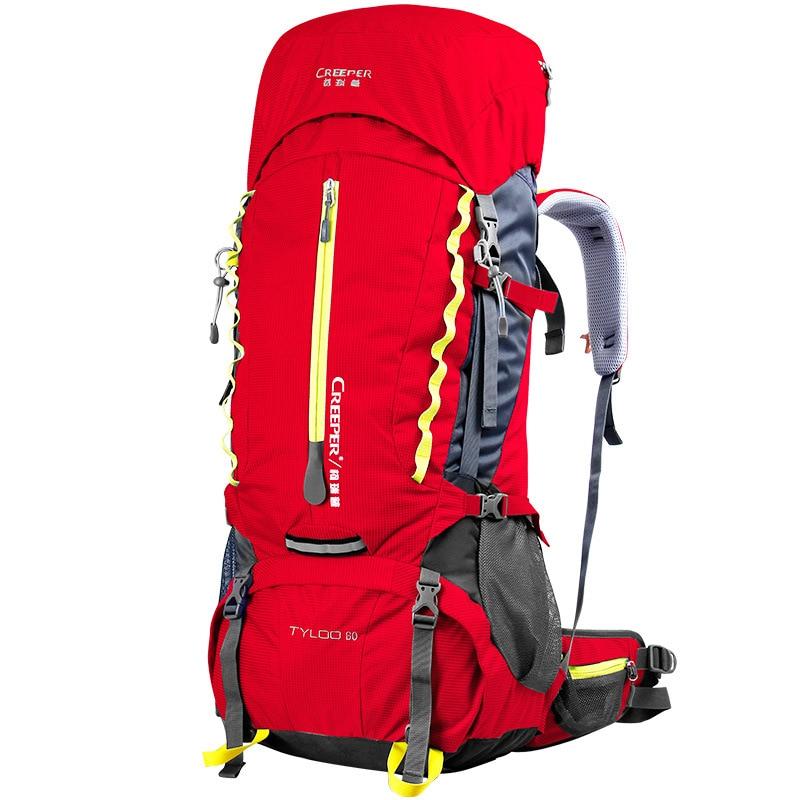 wetrip big 60l backpack unisex travel backpacks waterproof rucksack bag climbing backpacks hiking big metal frame bag breathable