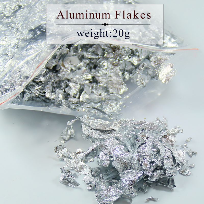 20 grams aluminum flake , fragment of imitation silver leaf foil sheets for all kinds decorations