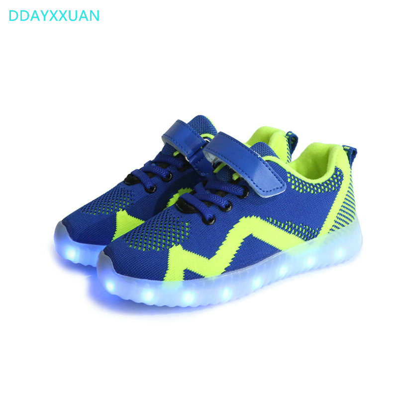 Glowing Children casual Shoes with USB rechargeable 2018 New Kids Led Light up Shoes Luminous Sneakers for Boys Girls Sneaker