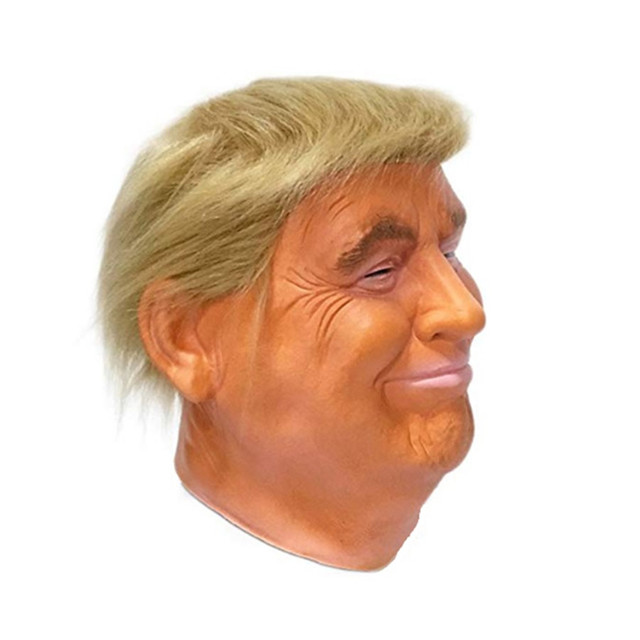 Halloween Dress Latex Donald Trump Rubber Mask Realistic Box Gift Party