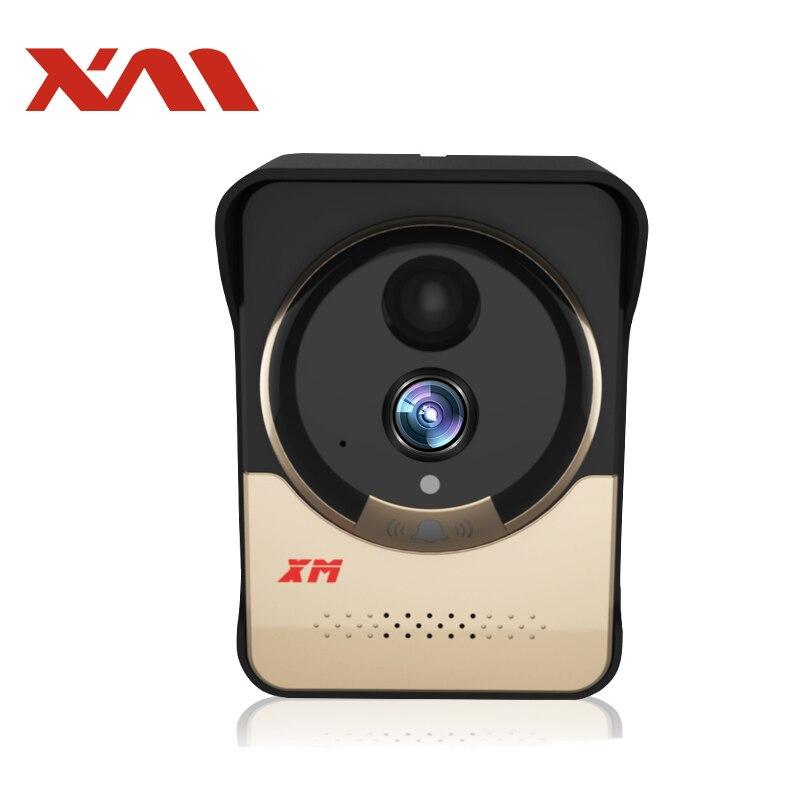 XM Campanello Senza Fili con Batteria IR Visione Notturna Telecamera Monitor Video Citofono wifi visore di peephole All'aperto anello campana