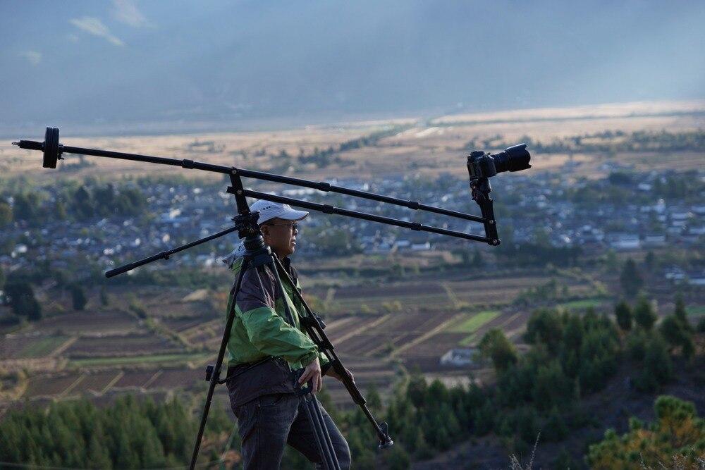 Prix spécial! Mini grue DV Portable DSLR caméra vidéo Jib 210 cm de long pour appareil photo DSLR 5D2 5D3 GH2 D800