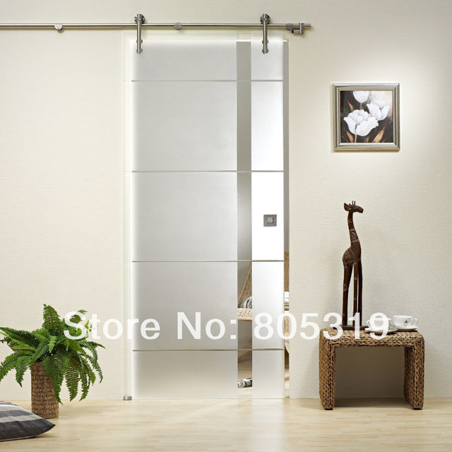 Online Shop Diyhd 150cm 244cm Brushed Stainless Steel Glass Sliding