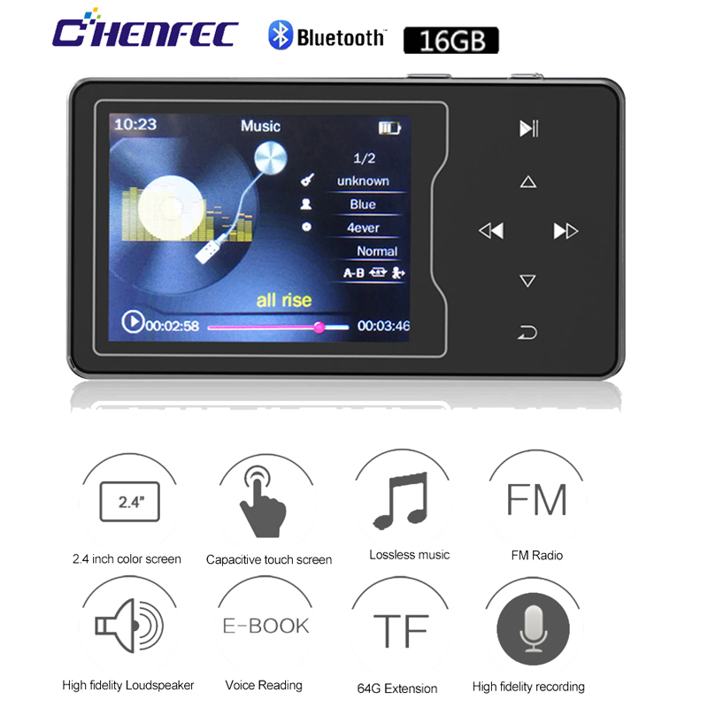 Newest C03 16GB Metal MP3 Player 2.4in HD Large Color Screen HIFI Lossles Sound FM Radio Ebook Video Player Built-in Speaker Mp3 цена