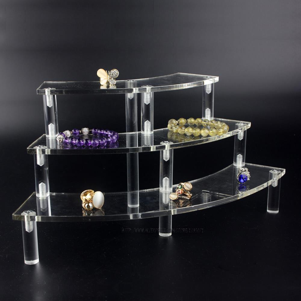 High quality acrylic jewelry display rack 3 layer necklace for Jewelry displays
