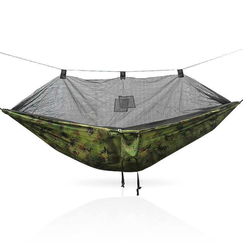 Camouflage Blue 260*140cm 260cm Army Green Color 210T Nylon Mosquito Net Hammock Loading 300kg