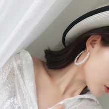 2019 New Hot Fashion Jewelry White Imitation Pearl Earrings big Round Statement for woman