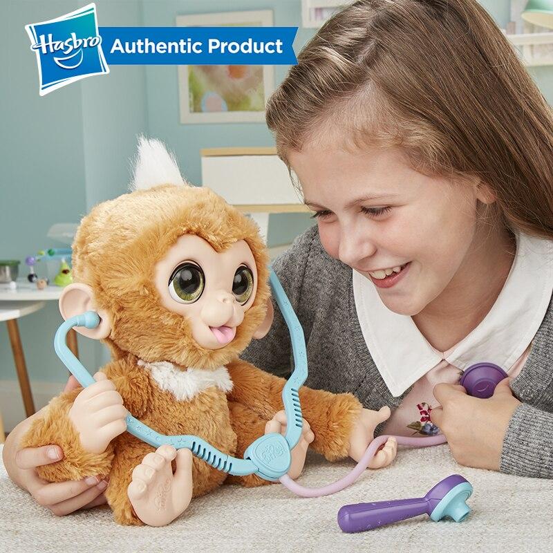 Hasbro Furreal Check-up Zandi Sweet Little Monkey Plush Stuffed Toy Can Make A Sound Child Birthday Christmas Present 1