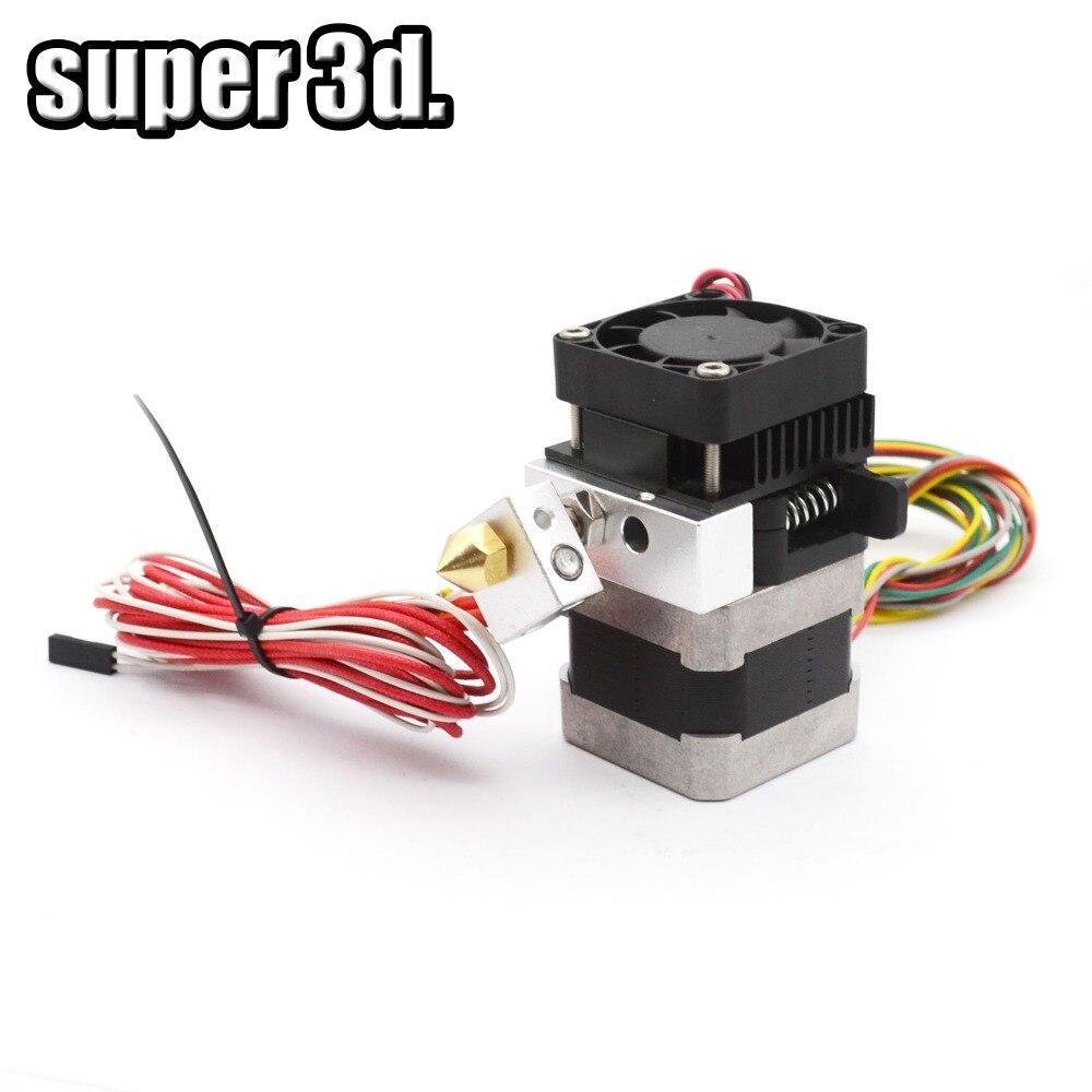 2 sets/ lot 12v 0.4mm Nozzle 100K Thermistor 3D printer MK8 updated / MK9 Extruder For 3.00 mm Filamnet 3D Printer