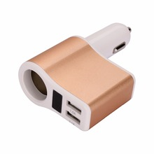 PUSHIDUN Car Charger USB Car Cigarette Lighter Dual USB Car Adaptor for Cellphone 3.1A Smart Charging Built-in Safety Protection
