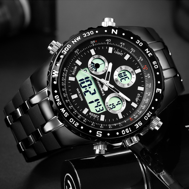 Waterproof digital wristwatch of men 2