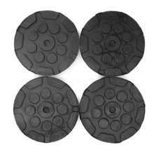 4pcs/lot Rubber Jacking Pad Anti-slip Protector Floor for Heavy Duty Round Lift Pads for Car Repair black v groove car jack rubber pad anti slip rail protector support block heavy duty for car lift car jacks