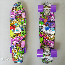 2017 mini Cruiser Skateboard LED Light Four Wheel Skate Board Adult&children Tablas De Loaded Complete