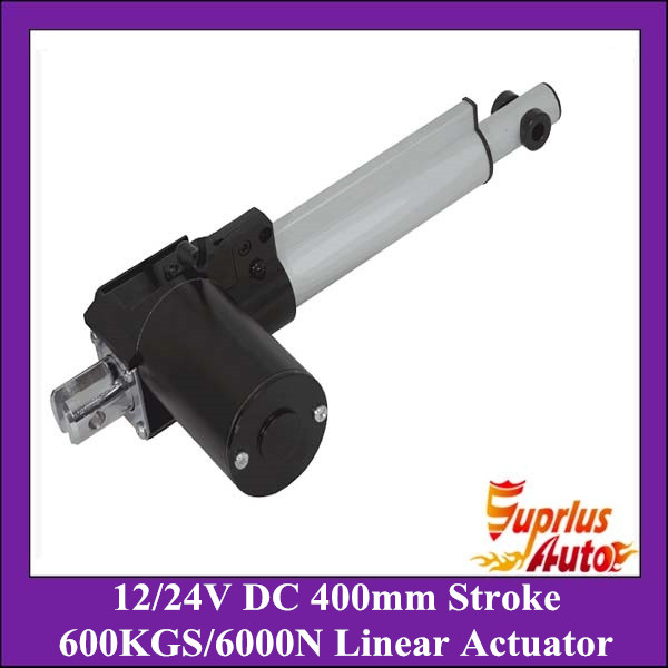 DC 12V/24V 16inch/400mm stroke 5mm/s linear actuator , 6000N/600kgs load heavy duty linear actuator free shipping heavy load capacity 1230lbs 600kgs 6000n 24v 5mm s speed 22inch 550mm stroke dc electric linear actuator