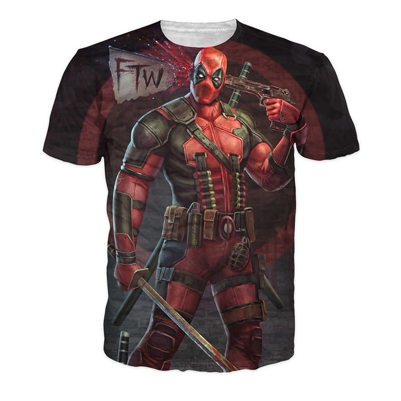 Teenager boy t shirt children summer kids clothes deadpool 3d t-shirt teens boy tees tops 3d sweatshirt superhero costume