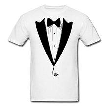 2017 informal common Tuxedo Men's T-Shirt 100% cotton male tops tee scorching promote trend O-Neck T Shirt