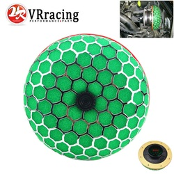VR - 80mm Round Mushroom Super Power Car Air Filter Cleaner Intake Flow With PQY sticker VR-HAF80-MB