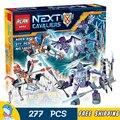 277 unids nuevos caballeros 14026 lanza vs rayo diy modelo building blocks juguetes nexus compatible con lego