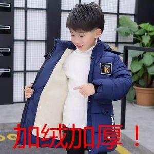 Image 5 - 少年子供冬コート厚く暖かい毛皮パーカーコートjakcets男の子の子供のビロード綿パッド入りのオーバーコート服