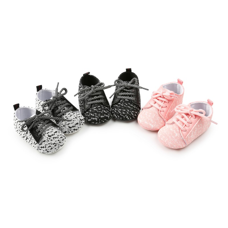2018 Baby Shoes Anti-slip PU Leather First Walkers Soft Soled Newborn Solid Color Sneakers Three Style H1