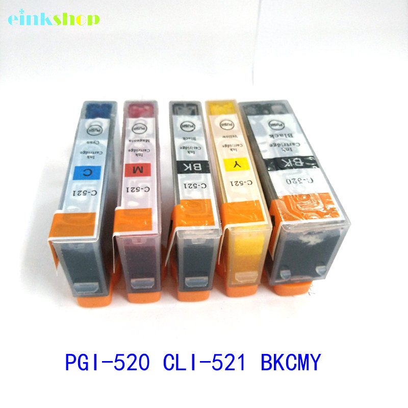 1set Canon Pixma MP540 용 PGI-520 CLI-521 잉크 카트리지 MP550 MP560 MP620 MP630 MP640 MP980 MP990 MX860 MX870 IP3600 pgi 520