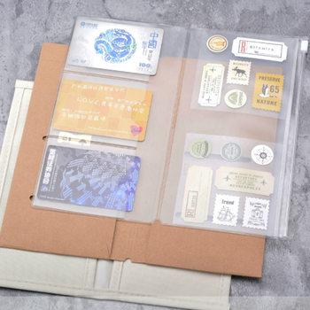 Yiwi Traveler Notebook Accessory PVC Zipper bag Craft card holder Oxford fabric Storage Standard Pocket Passport diary journay