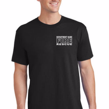 Custom Rescue Front & Back Your Department Name T