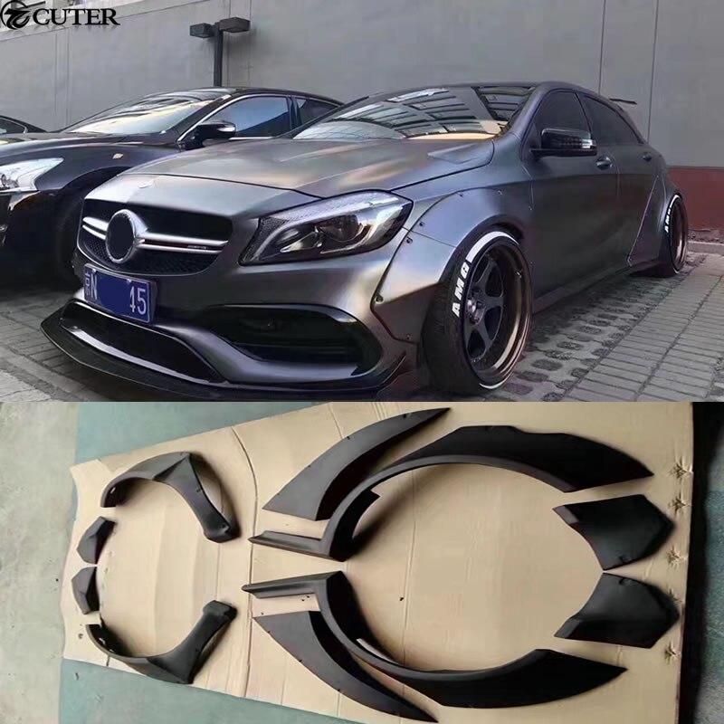 W176 A180 A200 A260 A45 Wide body kit carro sobrancelhas roda de Carro Para O Benz A250 A260 A45 2013UP
