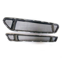 For Ford Mustang 2015 2016 2017 Real Carbon Fiber Car Front Bumper Mesh Grille Grills Car Styling