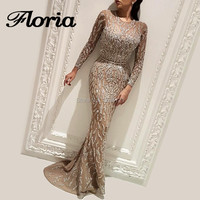 African Muslim Mermaid Evening Dresses Bling Unique Sequins Dubai Turkish Formal Party Gowns For Weddings Glitter Abendkleider