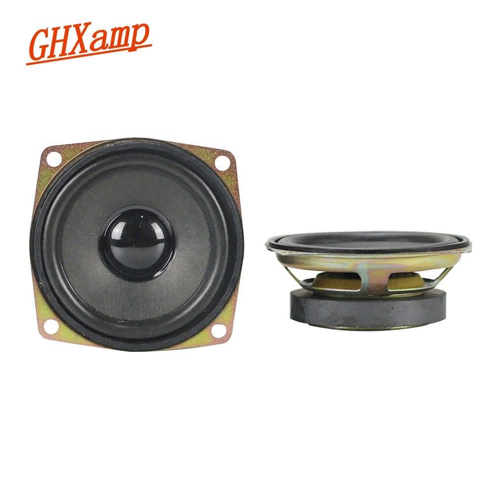 GHXAMP 2,5 дюймов 8OHM 12 Вт автомобиля Динамик полный диапазон НЧ-СЧ громкий Динамик 13 Core вне 50 магнитных черный кепки квадратный 2 шт.